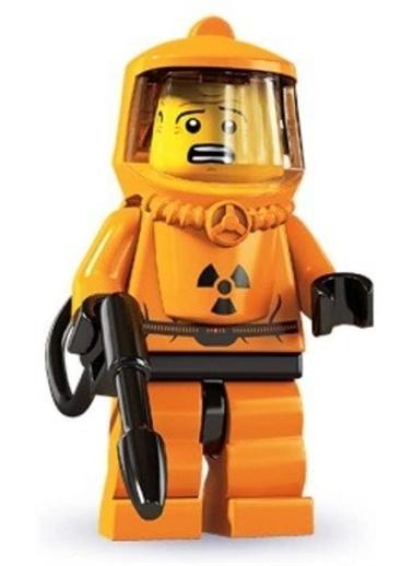 Lego Lego Minifigür - Seri 4 - 8804 - Hazmat Guy Renkli